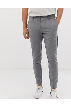 Only & Sons slim tapered fit pants in grey