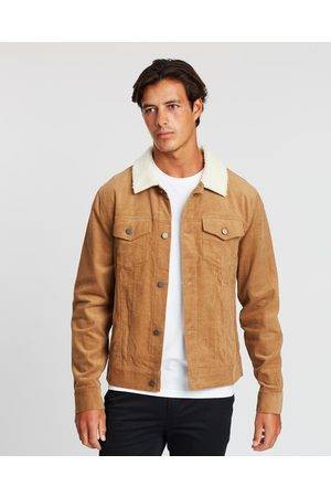 Staple Superior Men Jackets - Staple Cord Sherpa Jacket - Coats & Jackets (Sand) Staple Cord Sherpa Jacket