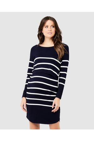 Ripe Maternity Valerie Up Down Nursing Tunic - Dresses (Stripe - Print) Valerie Up Down Nursing Tunic