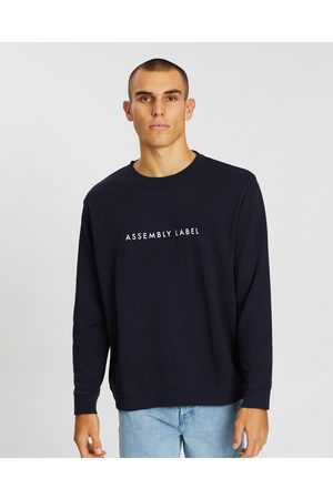 Assembly Label Logo Fleece Pullover - Sweats (True Navy) Logo Fleece Pullover