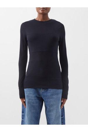The Row Women Sweaters - Cremona Sleeveless V-neck Merino-wool Sweater - Womens - Navy