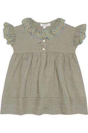 Caramel Baby Sloane linen dress