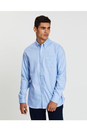 Fred Perry Oxford Shirt - Shirts & Polos (Light Smoke) Oxford Shirt