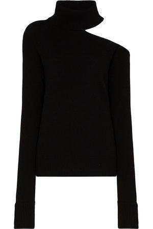 Paige Raundi cold-shoulder turtleneck sweater