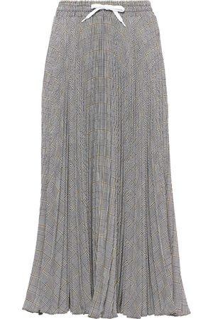 Miu Miu Women Pleated Skirts - Prince of Wales pleated skirt