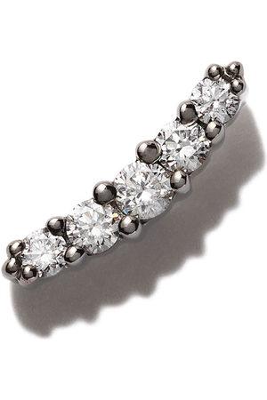 Stone 18kt Line button diamond earring