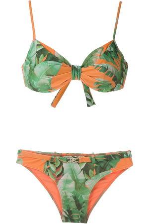 AMIR SLAMA Women Bikinis - Mata Atlântica print bikini set