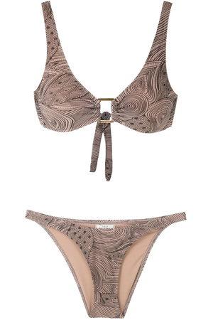 AMIR SLAMA Marajoara printed bikini set