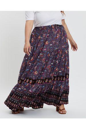 Hope & Harvest Delilah Full Maxi Skirt - Skirts (Lilac Multi) Delilah Full Maxi Skirt