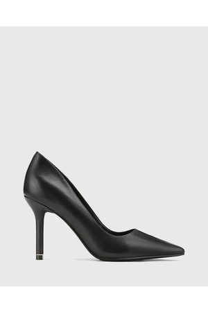 Wittner Quendra Leather Trim Pointed Toe Pumps - All Pumps Quendra Leather Trim Pointed Toe Pumps
