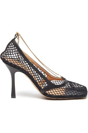 Bottega Veneta Women Heels - Chain embellished mesh square toe pumps
