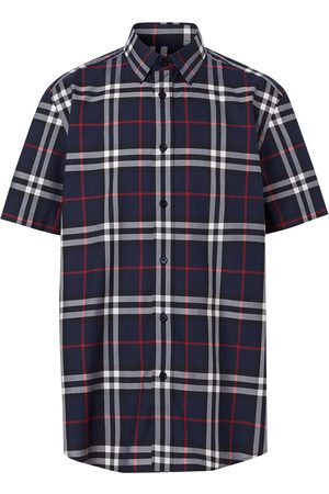 Burberry Check print short-sleeved shirt