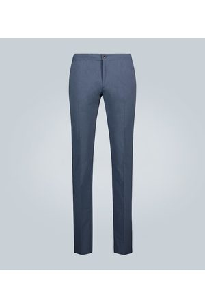 Incotex Men Skinny Pants - Slim-fit checked cotton pants
