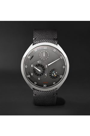 Ressence Type 2G Automatic 45mm Titanium and Leather Watch with Smart Crown Technology