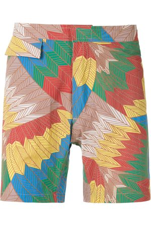 AMIR SLAMA Cocar Francês tactel swim shorts