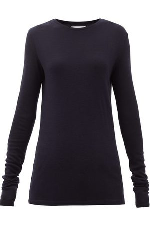 ALEXANDRE VAUTHIER High-rise Split-cuff Wool-hopsack Trousers - Womens