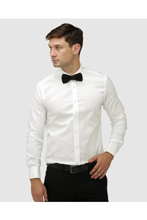 BROOKSFIELD Classic Wedding French Cuff Dress Shirt - Shirts & Polos (Cream) Classic Wedding French Cuff Dress Shirt