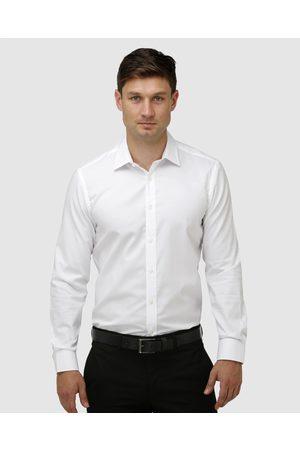 BROOKSFIELD Staple Textured Business Shirt - Shirts & Polos Staple Textured Business Shirt
