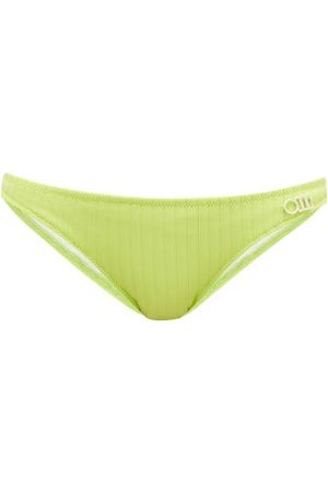 Solid The Rachel Ribbed-jersey Bikini Briefs - Womens