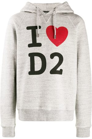 Dsquared2 I Love D2 printed hoodie