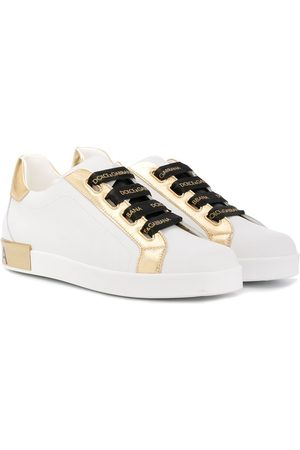 Dolce & Gabbana Metallic-paneled low-top trainers