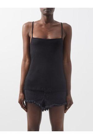 Raey Women Gilets - Square-neck Cotton-blend Jersey Vest - Womens