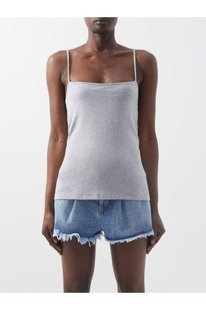 Raey Square-neck Cotton-blend Jersey Vest - Womens - Marl