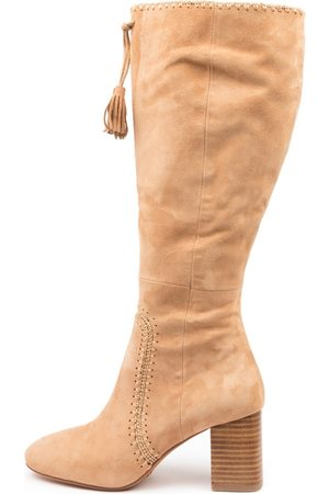 Mollini Salome Sand Boots Womens Shoes Casual Long Boots