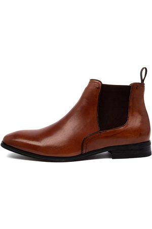 Shaw and Smith Tarrant S2 Cognac Boots Mens Shoes Casual Ankle Boots