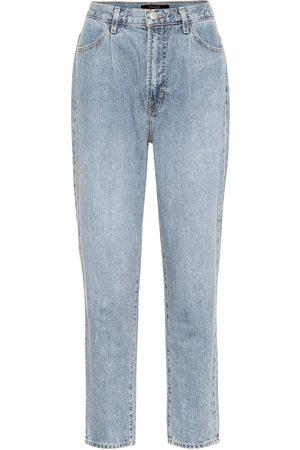 J Brand Peg high-rise cropped jeans