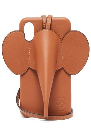 Loewe Elephant Iphone® Xs Max Leather Phone Case - Womens - Tan