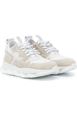 VERSACE Low-top mesh sneakers