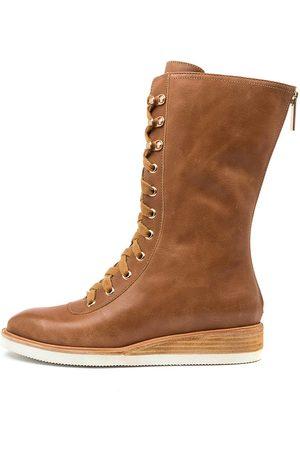 Django & Juliette Volleez Dj Tan Boots Womens Shoes Casual Calf Boots