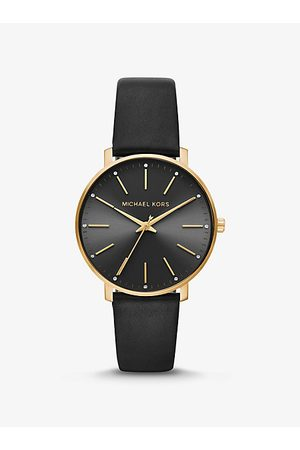 Michael Kors Pyper -Tone And Leather Watch