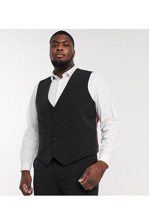 ASOS DESIGN Plus super skinny suit waistcoat in four way stretch in black