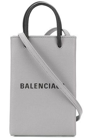 Balenciaga Women Shoulder Bags - Logo print crossbody bag