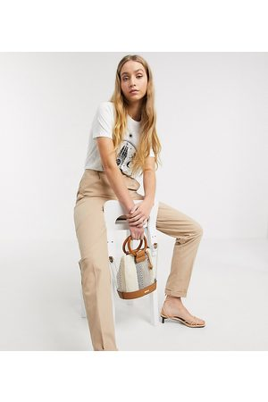 ASOS DESIGN Tall chino pants in stone