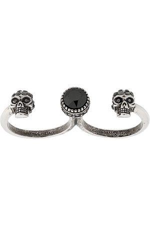 Alexander McQueen Women Rings - Skull double finger ring