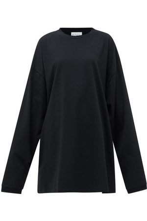 Raey Women Short Sleeve - Oversized Recycled-yarn Cotton-blend T-shirt - Womens