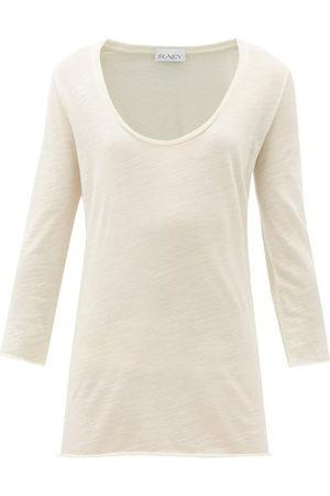 Raey Scoop-neck Wool-jersey T-shirt - Womens - Ivory
