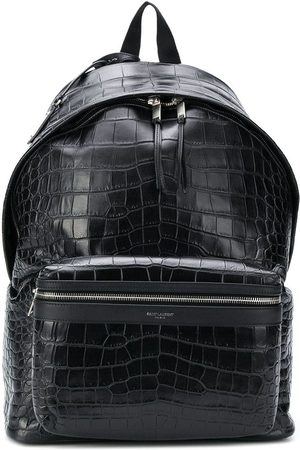 Saint Laurent City crocodile-effect backpack