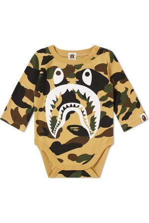 A Bathing Ape Kids 1st Camo Shark Bodysuit