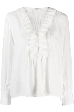 Sandro Women Blouses - Ruffle trim blouse