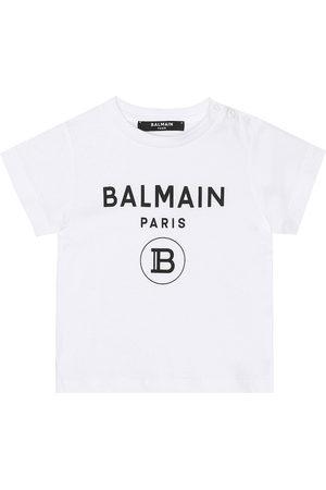 Balmain Baby logo cotton T-shirt