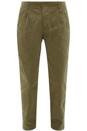 Folk Assembly Cotton-canvas Trousers - Mens - Khaki