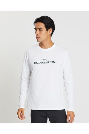 Rodd & Gunn Long Sleeve Logo T Shirt - T-Shirts & Singlets (Snow) Long Sleeve Logo T-Shirt