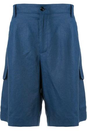 Dolce & Gabbana Plain linen bermuda shorts