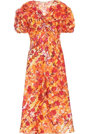 Marni Floral silk dress