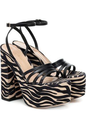 Gianvito Rossi Women Platforms - Ursula 150 leather platform sandals