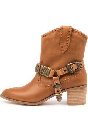 Django & Juliette Hance Dj Tan Boots Womens Shoes Casual Ankle Boots